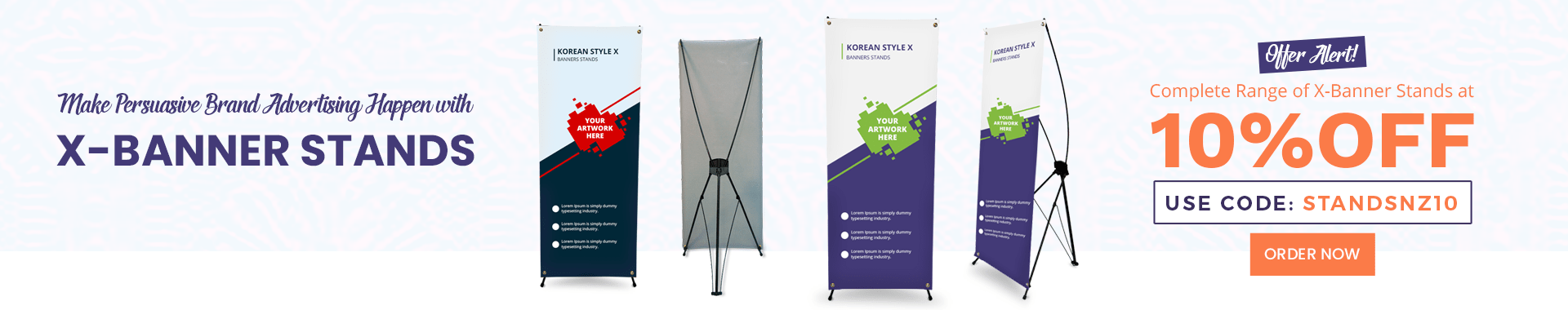 10% Off on X Banner Stands