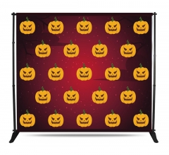 Halloween 10 ft x 8 ft Adjustable Media Wall - Step and Repeat Event Backdrops