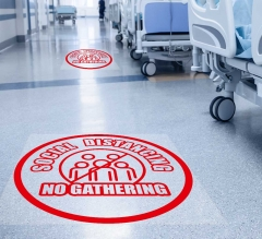 Social Distancing No Gathering Floor Decals