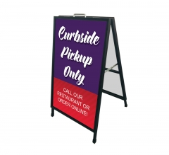 Curbside Pick Up Only Metal Frames