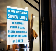 Social Distancing Saves Lives Window Clings