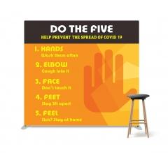 Do the Five Help Prevent Covid-19 Spread Straight Pillow Case Backdrop