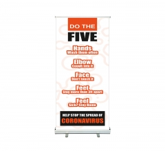 Do the Five Help Stop Spread Coronavirus Roll Up Banner Stands