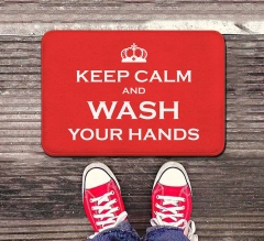 Keep Calm and Wash your Hands Indoor Floor Mats