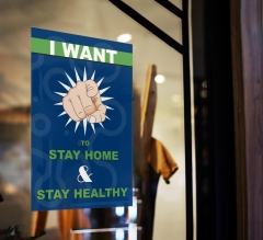 Stay at Home Stay Healthy Window Clings