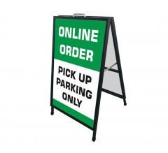 Online Order Pick Up Parking Only Metal Frames