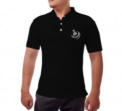 Custom Black Polo Shirt - Embroidered