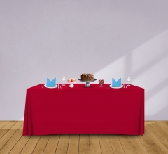 6' Convertible/Adjustable Table Covers - Red