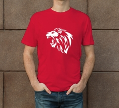 Red Cotton Printed T-Shirt - Crew Neck