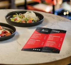 Folded Dine-in Menus