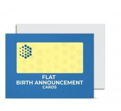 Flat Birth Announcement Cards