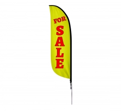 Pre-Printed For Sale Feather Flag