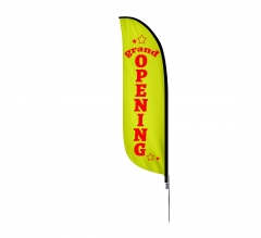 Pre-Printed Grand Opening Feather Flag