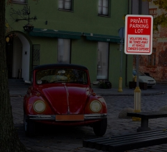 Reflective Private Parking Signs