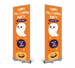 Halloween Pull Up Banner Stands