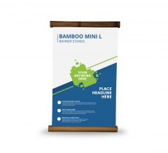 Bamboo Mini L Banner Stands