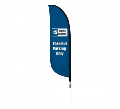 Pre-Printed Take Out Parking Only Feather Flag