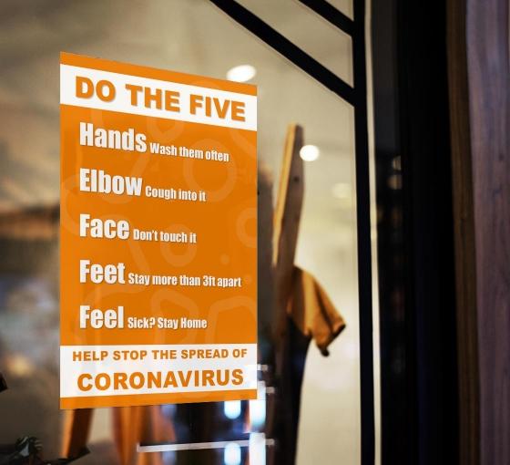 Do the Five Help Stop Spread Coronavirus Window Clings