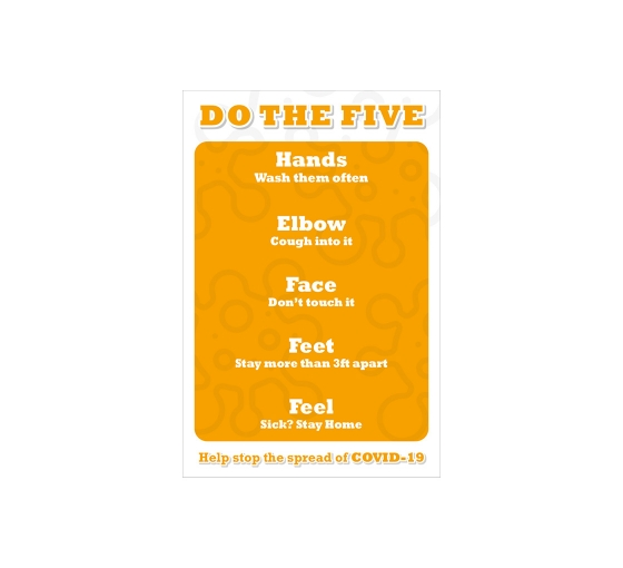 Do the Five Help Stop Spread Covid-19 Window Clings