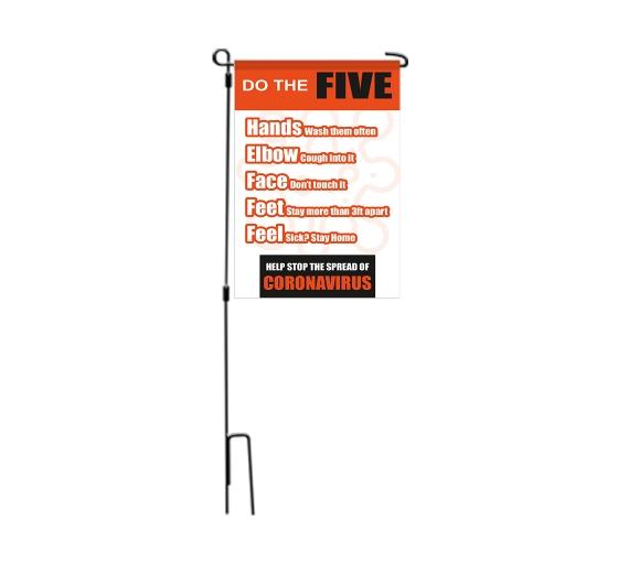 Do the Five Help Stop Spread Coronavirus Garden Flags