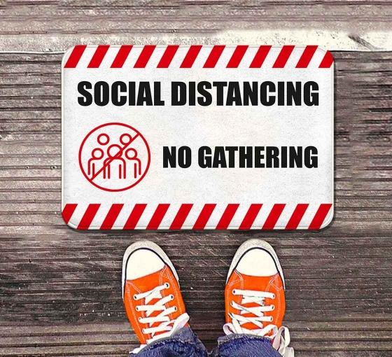 Social Distancing No Gathering Indoor Floor Mats