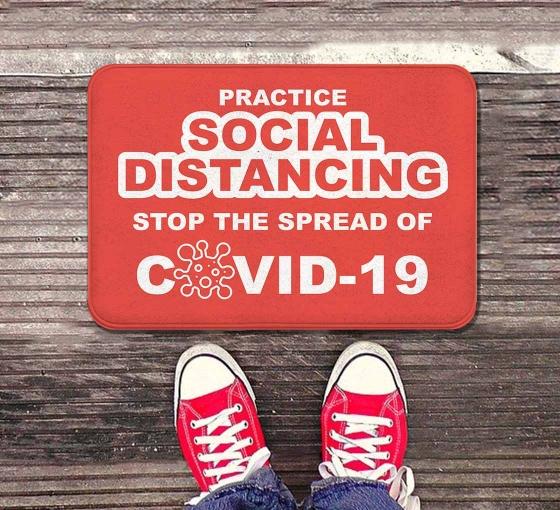 Practice Social Distancing Stop the Spread Indoor Floor Mats