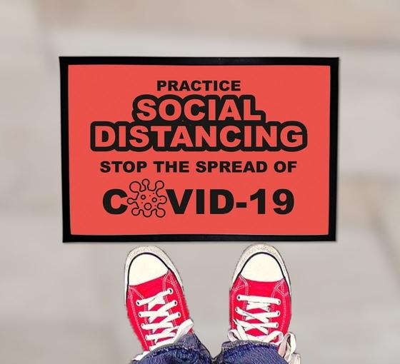 Practice Social Distancing Stop the Spread Outdoor Floor Mats
