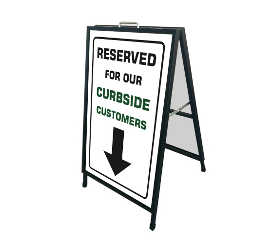 Reserved Parking for Curbside Customers Metal Frames