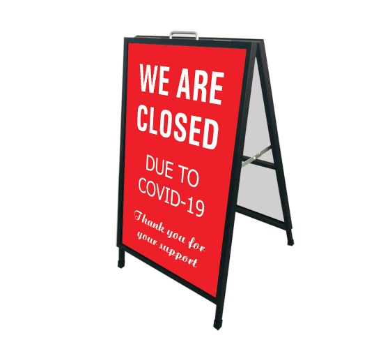 We are Closed due to Covid-19 Metal Frames