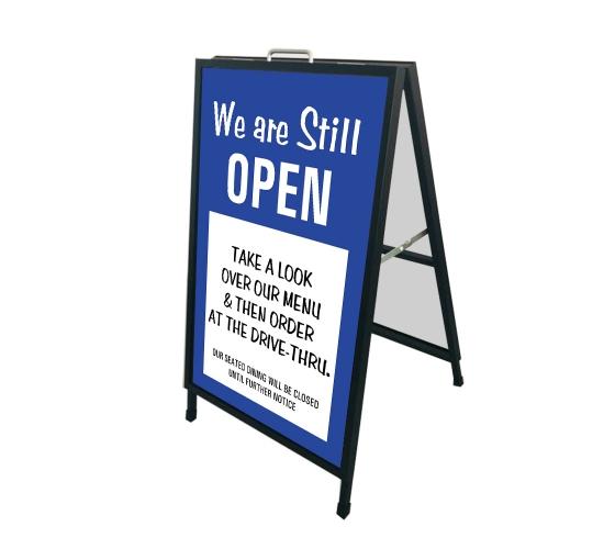 We are Still Open Metal Frames