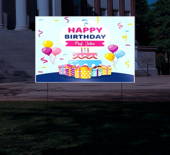 Reflective Birthday Yard Signs