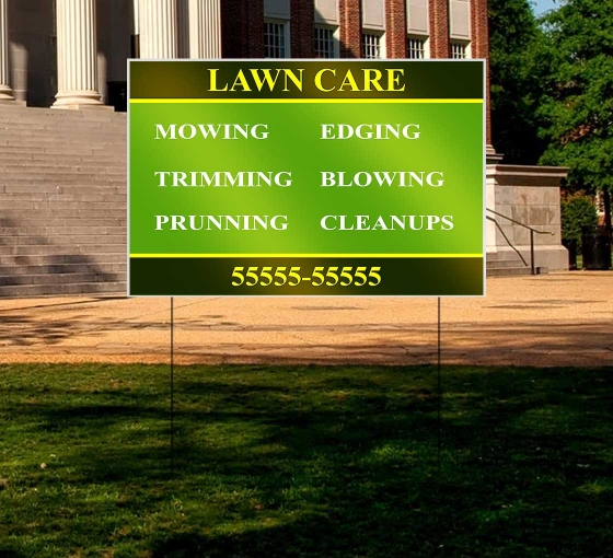 Reflective Business Yard Signs
