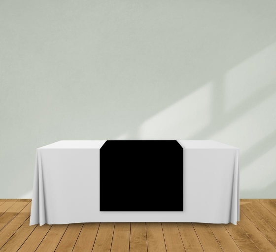 2.5' x 6' Table Runners - Black