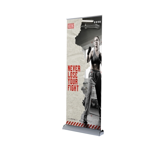 Deluxe Wide Base Single-screen Roll Up Banner Stands
