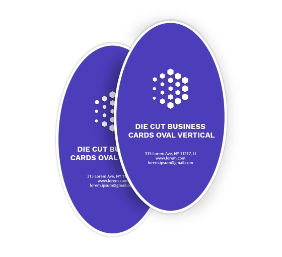Oval Business Cards - Vertical