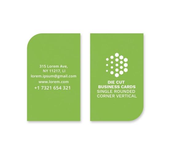 Die-Cut Business Cards - Vertical