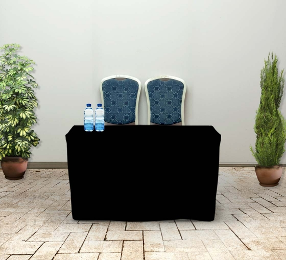 4' Fitted Table Covers - Black