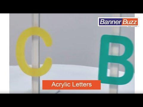 Acrylic Letters for Signs | Laser Cut Acrylic Letters and