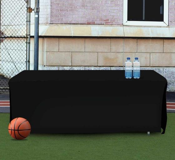 8' Open Corner Table Covers - Black