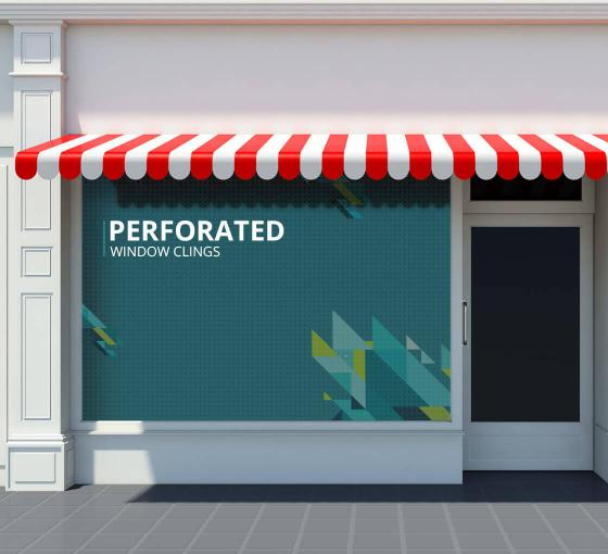 Perforated Window Clings