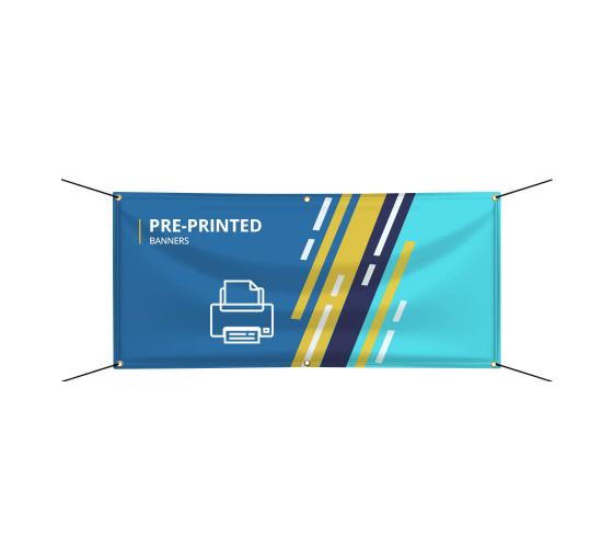 Pre-Printed Banners