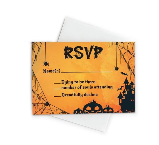 Halloween RSVP Cards