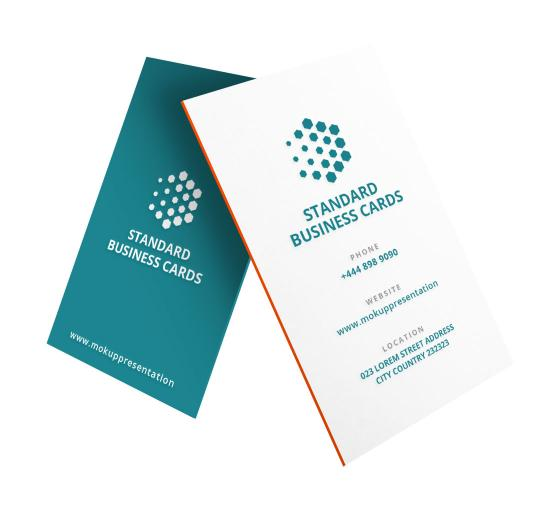 Custom Business Cards - Vertical