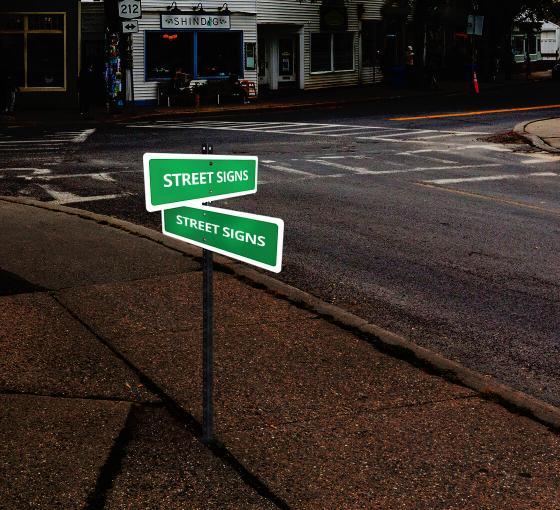 Reflective Custom Street Signs