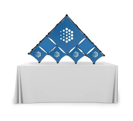 Triangular Large Micro GeoMetrix Table Top Display