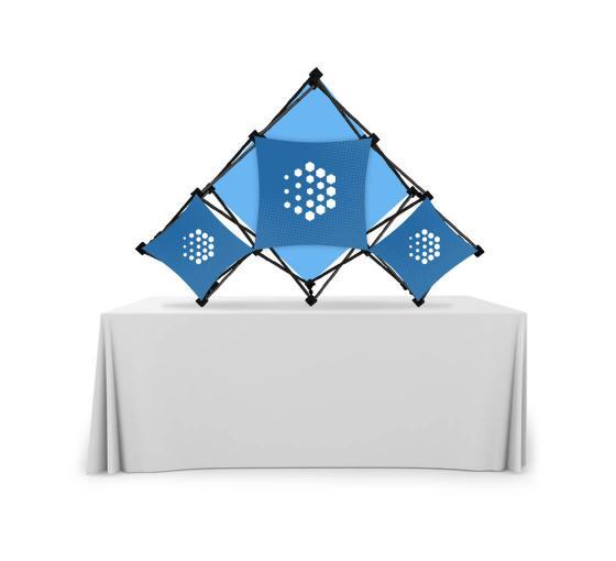 Triangular Middle Micro GeoMetrix Table Top Display